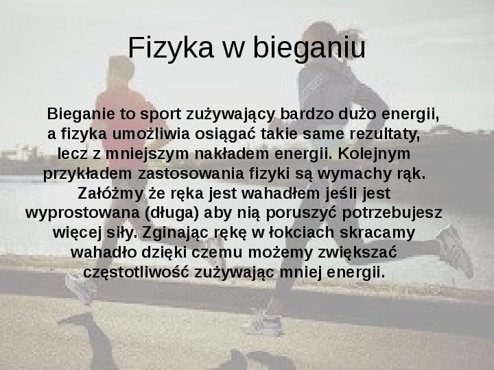 Fizyka a sport - Slajd 6
