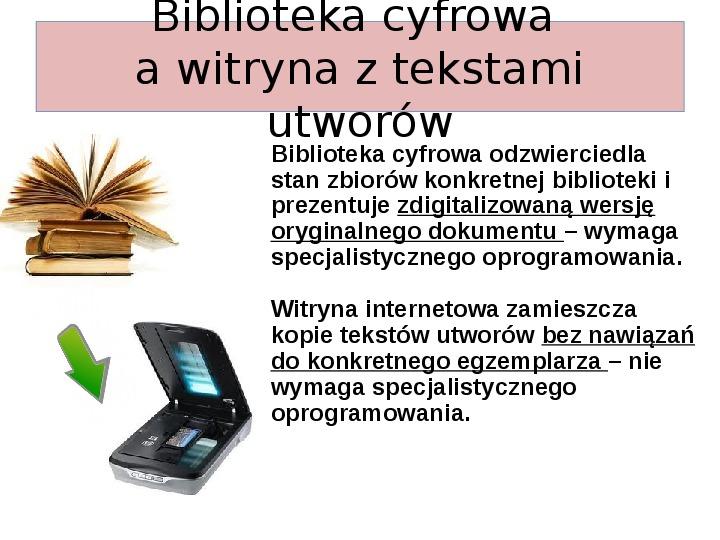Biblioteka cyfrowa - Slajd 7