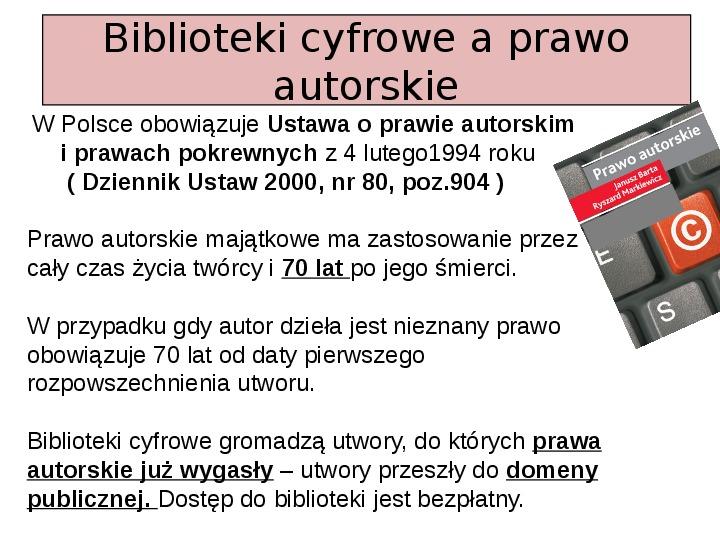 Biblioteka cyfrowa - Slajd 10