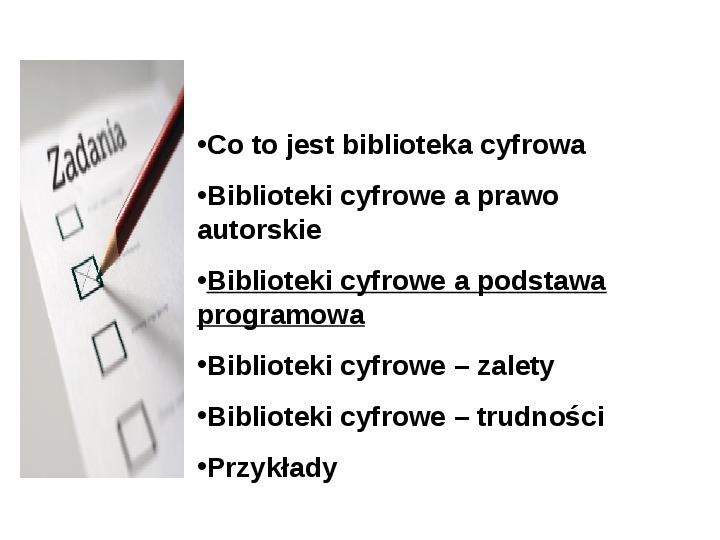 Biblioteka cyfrowa - Slajd 12