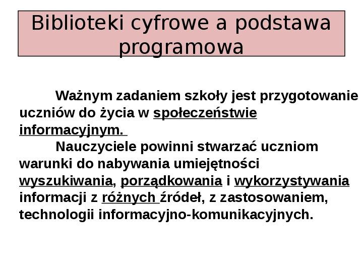 Biblioteka cyfrowa - Slajd 13