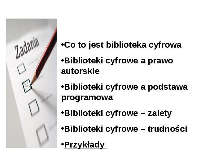 Biblioteka cyfrowa - Slajd 20