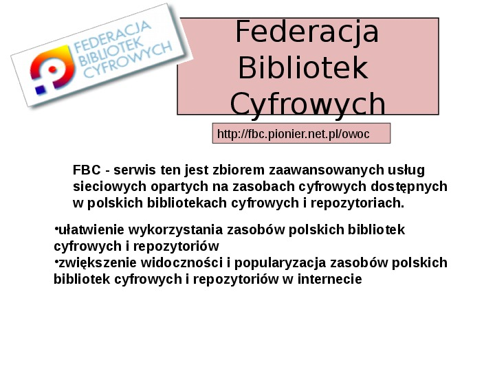 Biblioteka cyfrowa - Slajd 22