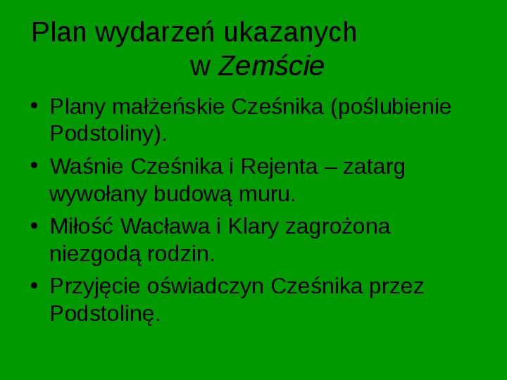 ZEMSTA Aleksander Fredro - Slajd 5