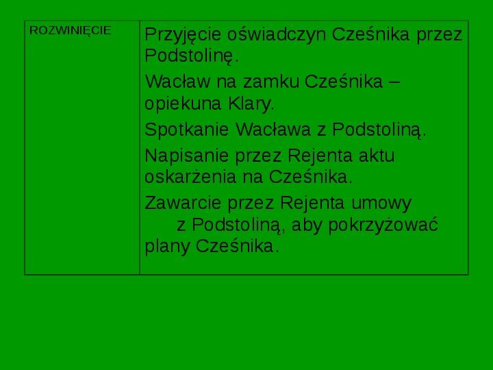 ZEMSTA Aleksander Fredro - Slajd 13
