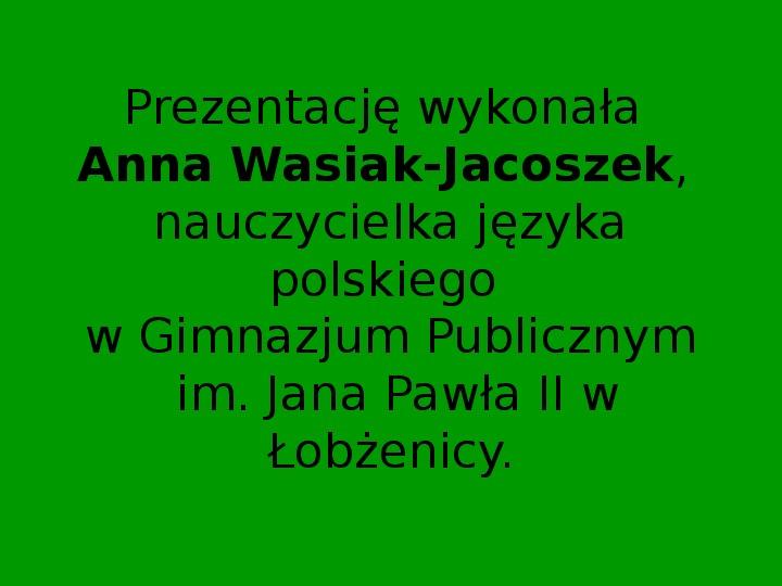 ZEMSTA Aleksander Fredro - Slajd 24