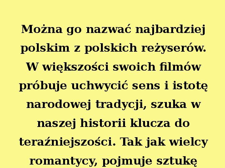 Andrzej Wajda - Slajd 1