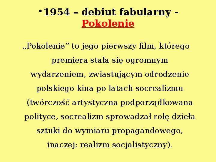 Andrzej Wajda - Slajd 6