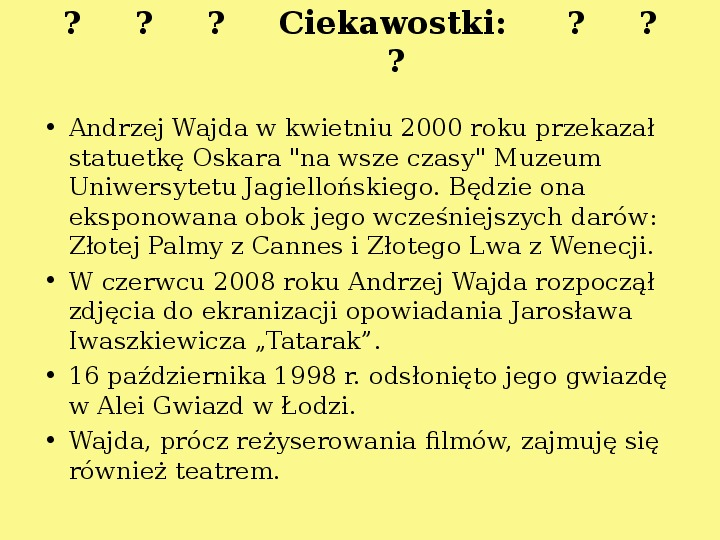 Andrzej Wajda - Slajd 27