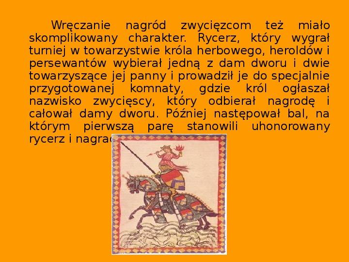 Rozrywka w średniowieczu - Slajd 8
