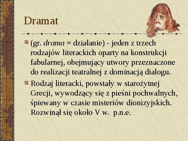 Dramat i jego gatunki - Slajd 1