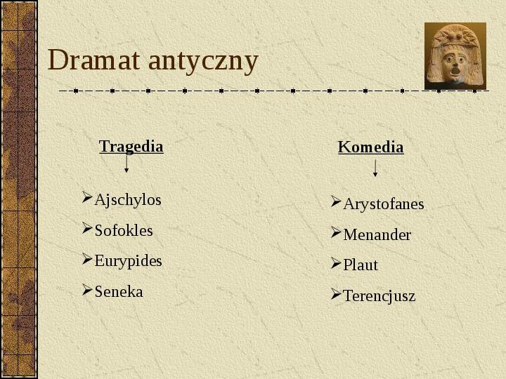 Dramat i jego gatunki - Slajd 4