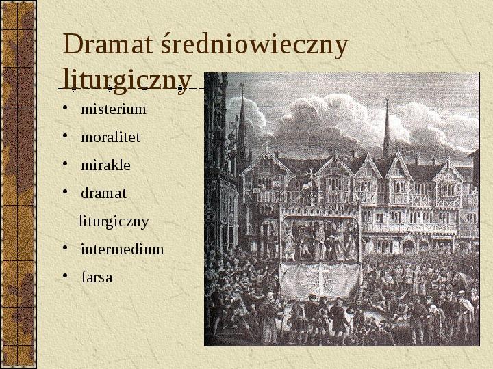 Dramat i jego gatunki - Slajd 9