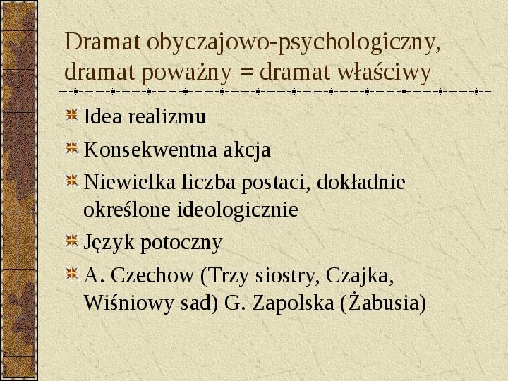 Dramat i jego gatunki - Slajd 24