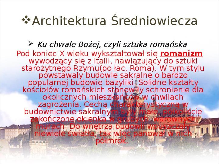 Średniowiecze: Architektura i malarstwo - Slajd 2