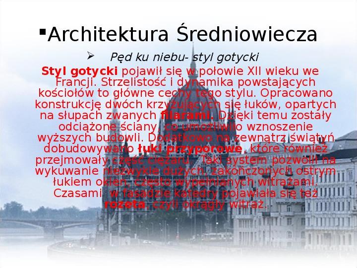 Średniowiecze: Architektura i malarstwo - Slajd 4