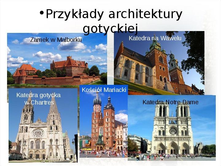 Średniowiecze: Architektura i malarstwo - Slajd 5