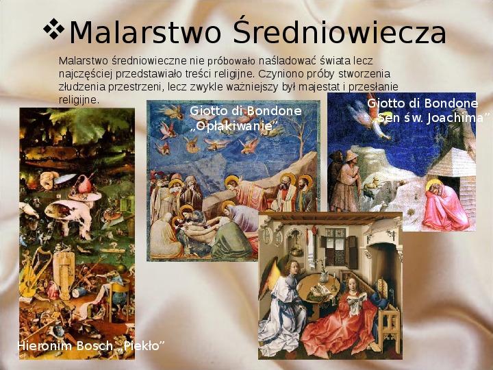 Średniowiecze: Architektura i malarstwo - Slajd 6