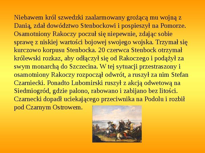 Potop szwedzki - Slajd 17