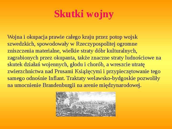 Potop szwedzki - Slajd 20