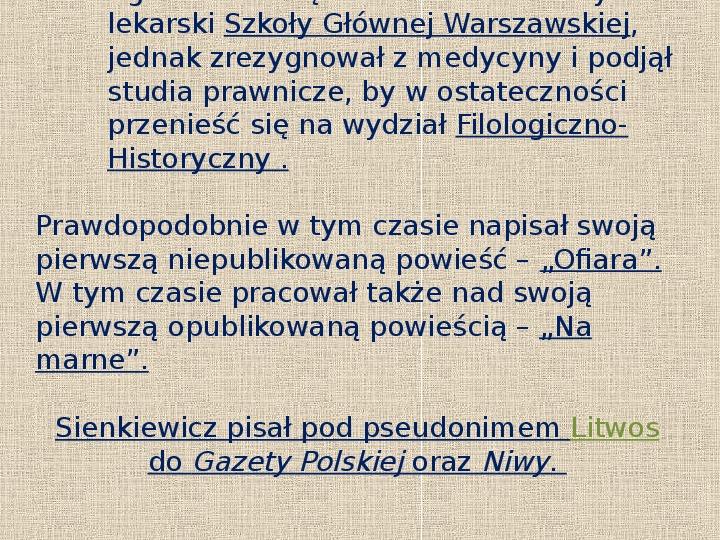Henryk Sienkiewicz - Slajd 4