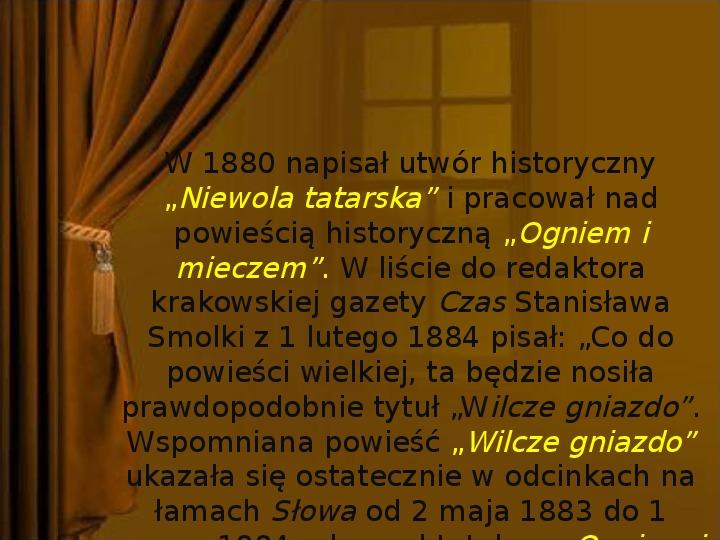 Henryk Sienkiewicz - Slajd 11