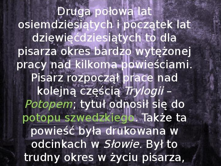 Henryk Sienkiewicz - Slajd 12