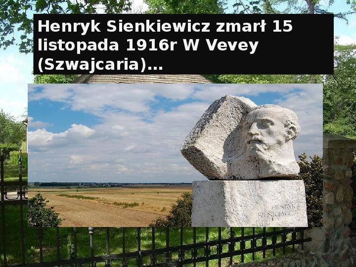 Henryk Sienkiewicz - Slajd 24