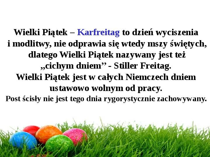 Wielkanoc w Niemczech - Slajd 14