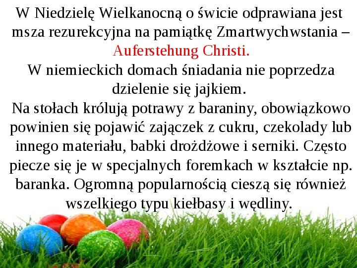 Wielkanoc w Niemczech - Slajd 19