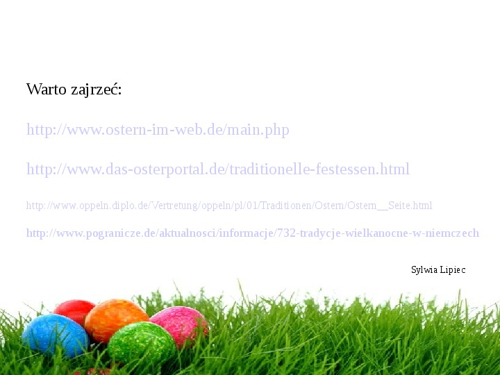 Wielkanoc w Niemczech - Slajd 31