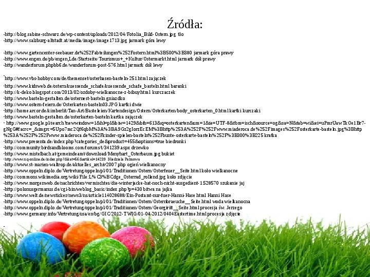 Wielkanoc w Niemczech - Slajd 32