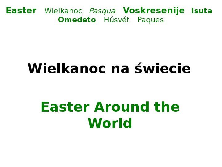 Wielkanoc na świecie - Slajd 1