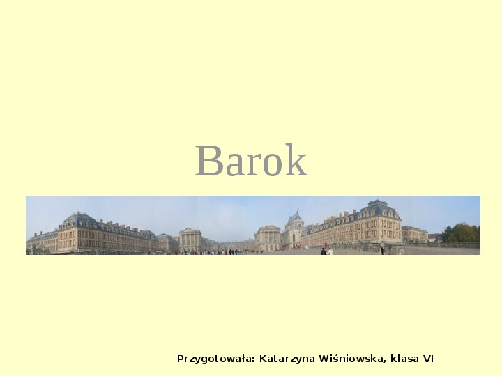 Sztuka baroku - Slajd 1
