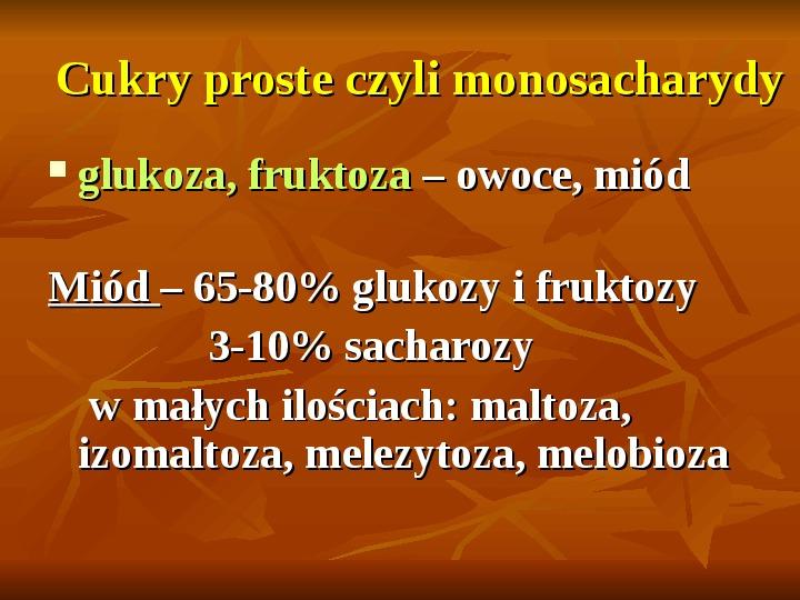 Węglowodany - Slajd 2