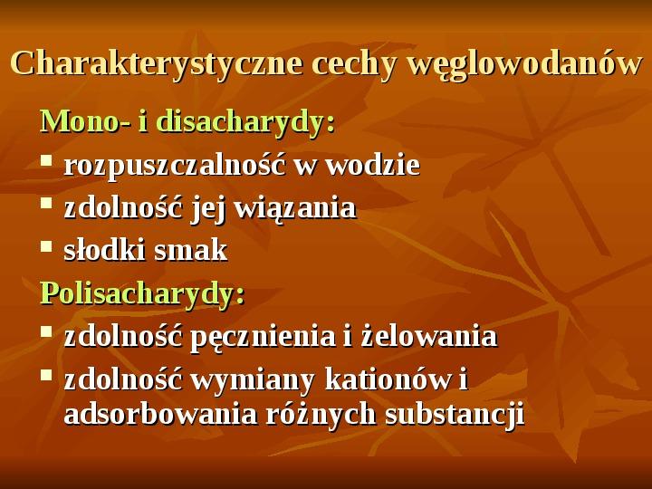 Węglowodany - Slajd 13