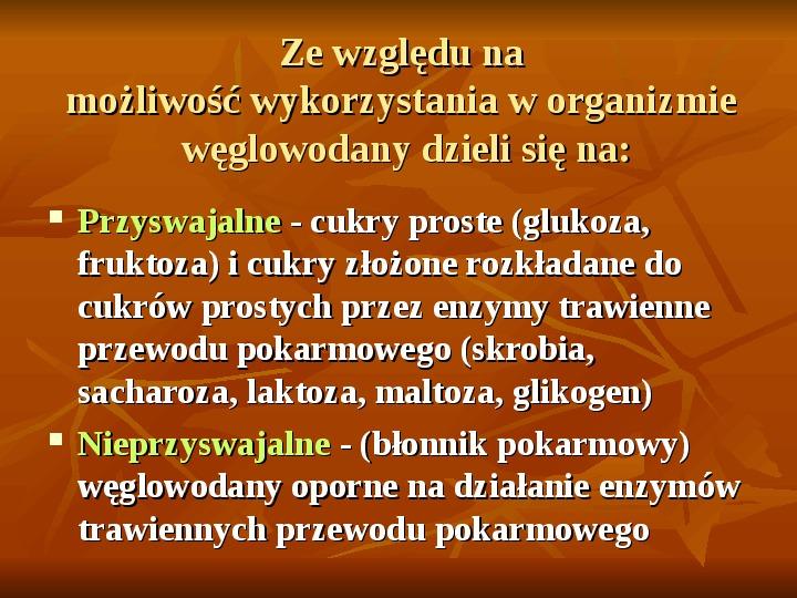 Węglowodany - Slajd 14