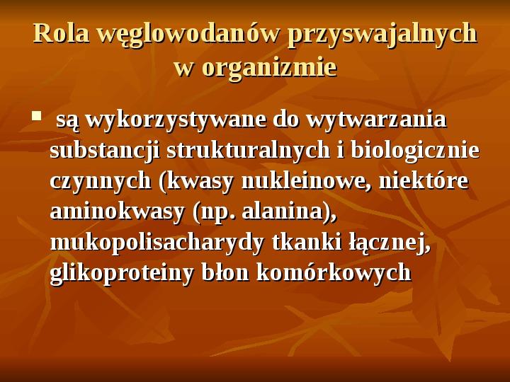 Węglowodany - Slajd 16