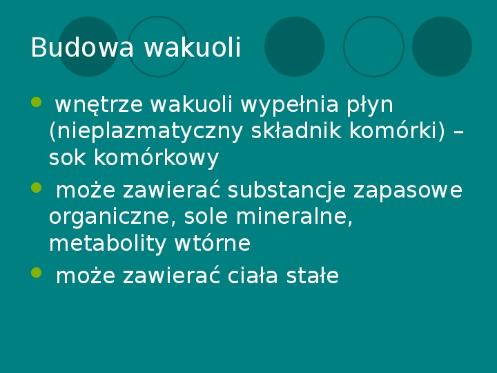 Wakuola - jej budowa i funkcje - Slajd 5