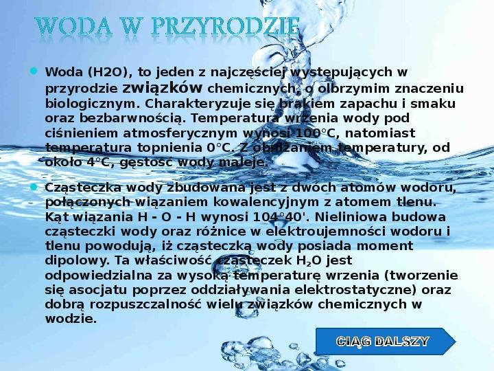 Woda w przyrodzie - Slajd 1