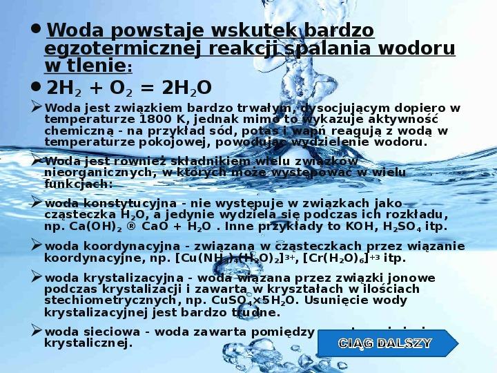 Woda w przyrodzie - Slajd 2