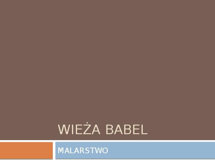 Weiża Babel - Slajd 1