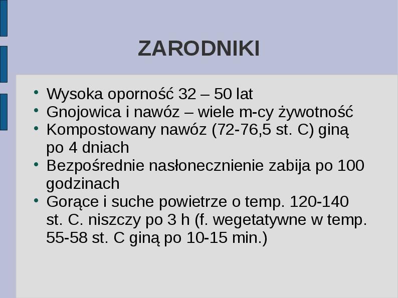Wąglik - Slajd 4