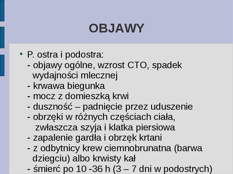 Wąglik - Slajd 9