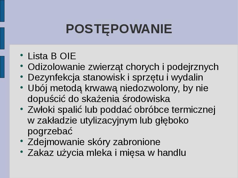 Wąglik - Slajd 13