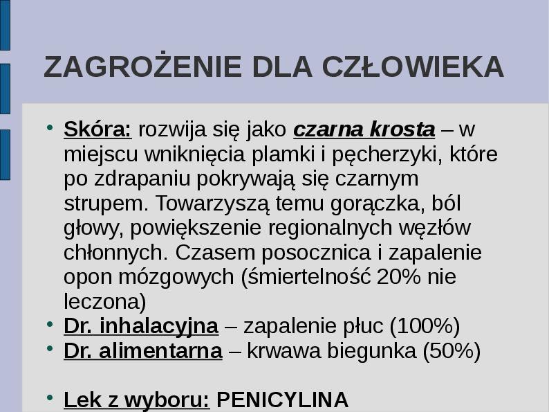 Wąglik - Slajd 16
