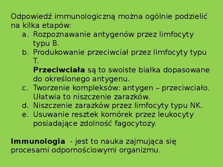 Układ limfatyczny i odporność organizmu - Slajd 13