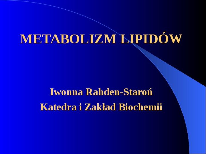 Lipidy - Slajd 1