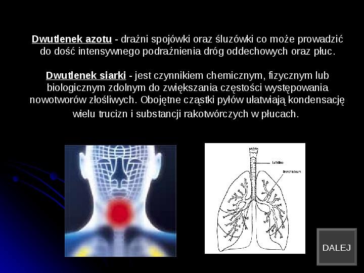 Szkodliwy wpływ czynników chemicznych na człowieka - Slajd 8