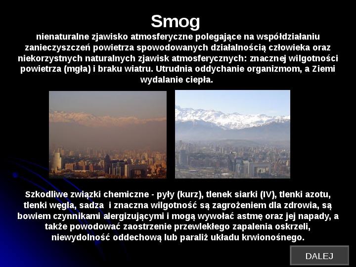 Szkodliwy wpływ czynników chemicznych na człowieka - Slajd 9